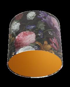 Lampenschirm Velour Blumen Ø 30cm, Höhe 24cm