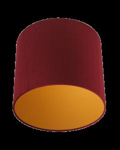 Lampenschirm Velour Rot Ø 30cm, Höhe 24cm