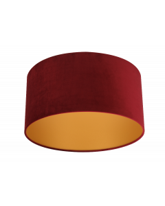 Lampenschirm Velour Rot Ø 40cm, Höhe 35cm