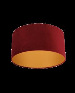 Lampenschirm Velour Rot Ø 50cm, Höhe 25cm