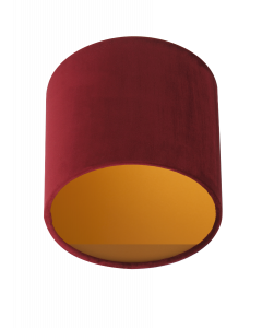Lampenschirm Velour Rot Ø 20cm, Höhe 18cm