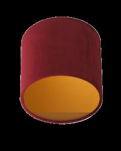 Lampenschirm Velour Rot Ø 25cm, Höhe 23cm